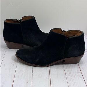 Sam Edelman black suede zip up boots 10 Wide